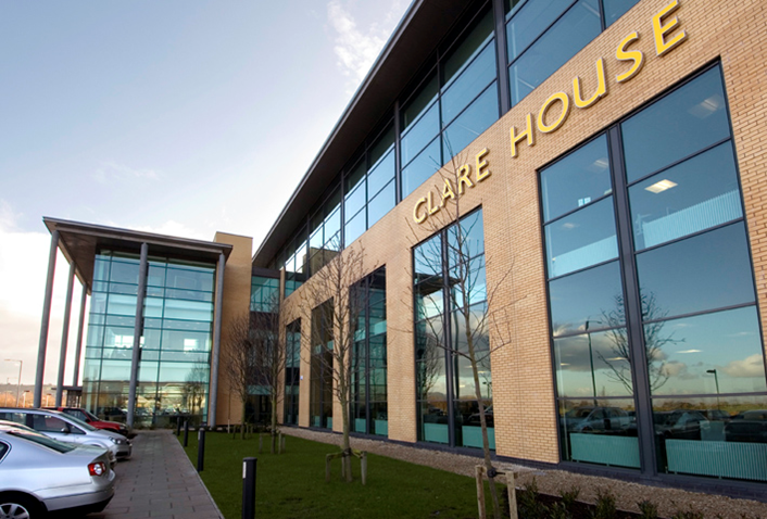 Image shows Clare House, Harbour Estate, Belfast