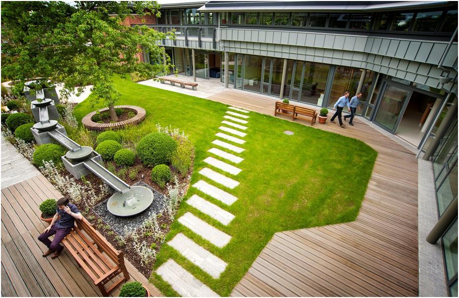 garden area of the community mental health facility