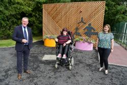 Finance Minister Conor Murphy Disability pictured with Michaela Hollywood and Christine McClements at the launch of the CPT consultation