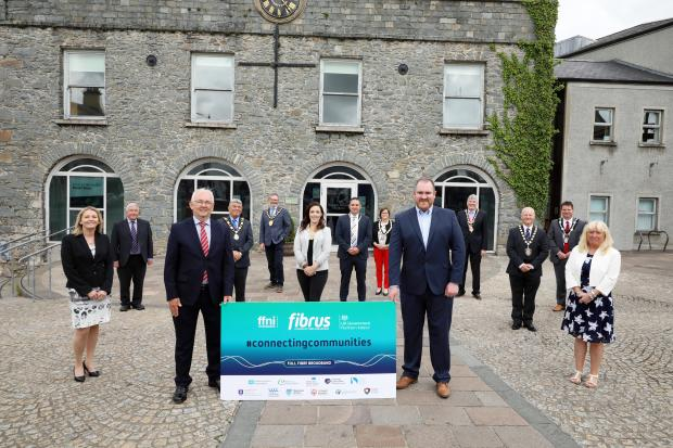 Representatives From FFNI, DCMS, BSO and Fibrus at Project Launch
