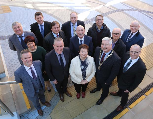 Finance Minister Conor Murphy has held engagements in the North West