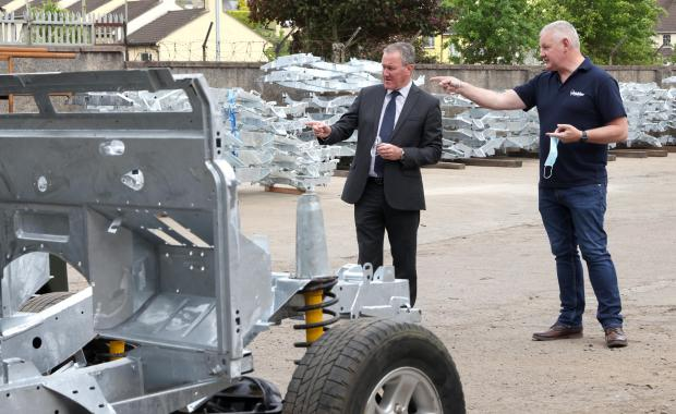 Finance Minister visits local Armagh manufacturer