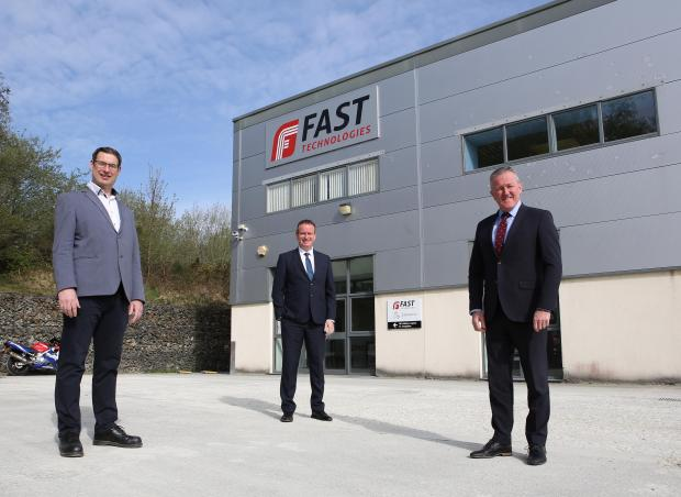 Finance Minister Conor Murphy at FAST Technologies, Derry