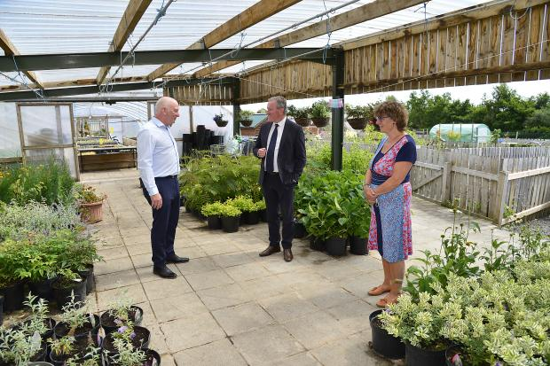Finance Minister Conor Murphy visited AEL this week to find out more about the social enterprise