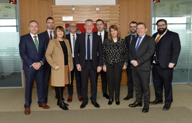 Finance Minister Conor Murphy held a roundtable discussion on business rates, Reval2020 and the Business Rates Review.