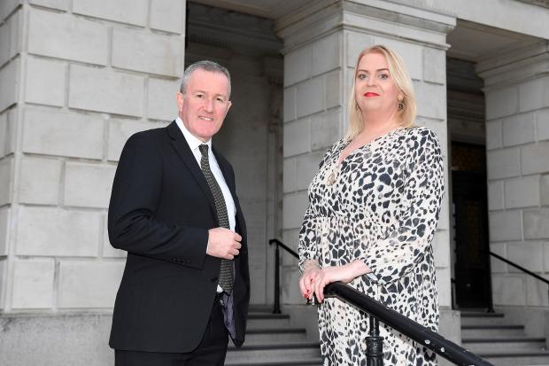 Finance Minister Conor Murphy with Ricki Kettle