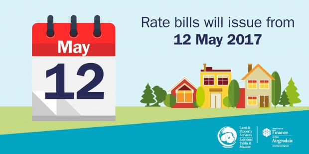 Graphic image to show rates bills are issuing