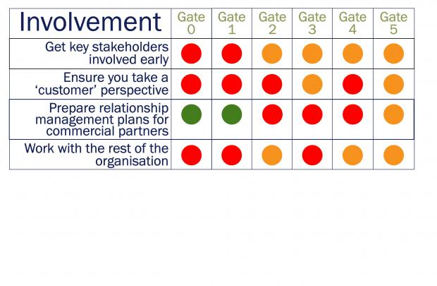 Strategic Lessons from 2008 NICS study into programmes and projects, Involvement