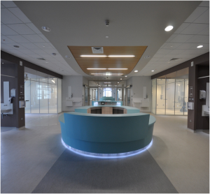 Reception area at the Ulster Hospital