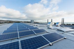 Image shows FSNI solar panels