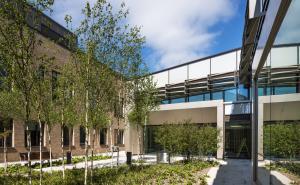 Omagh Hospital courtyard