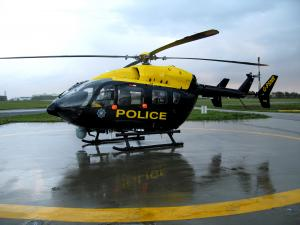 Image of a police helicopter