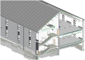 An example of Building Information Modelling (BIM)